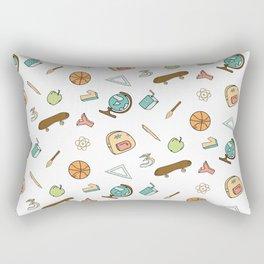 Colorful school pattern Rectangular Pillow