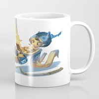 pin up Mugs featuring Pin up by paul drouin