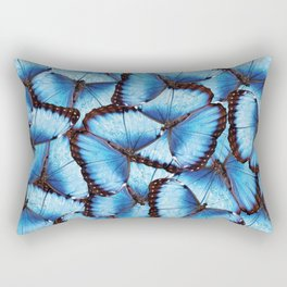 Blue Morpho Butterfly Rectangular Pillow