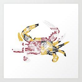 Maryland Crab Art Print