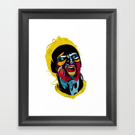 Futbolista_02 Framed Art Print