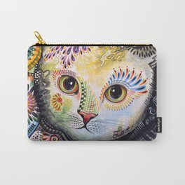 Lucy ... Abstract cat pet animal art Carry-All Pouch