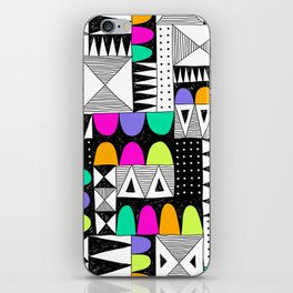 neon colors pattern with doodle elements. iPhone Skin