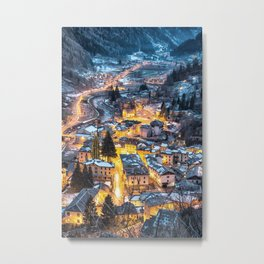 Christmas Village Metal Print