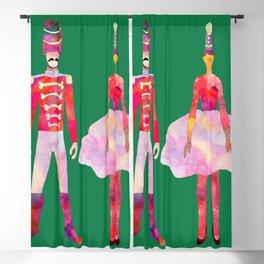 Nutcracker Ballet - Candy Cane Green Blackout Curtain
