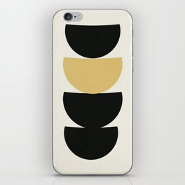 Crescents (Black and Mustard) iPhone Skin