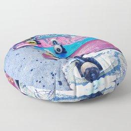 """""""SKATEBOARD THRIFT"""" BY ROBERT DALLAS Floor Pillow"""