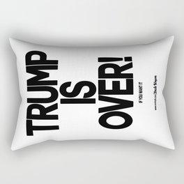 TRUMP IS OVER! (Black) Rectangular Pillow