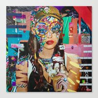 chelsea Canvas Prints featuring Chelsea by Katy Hirschfeld
