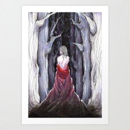 Meet Me in the Woods Art Print