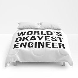World's Okayest Engineer Comforters