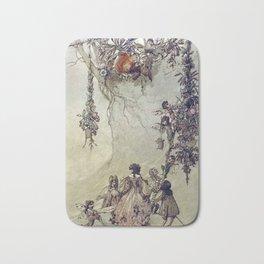 """""""The Fairies Ascent"""" by A. Duncan Carse Bath Mat"""