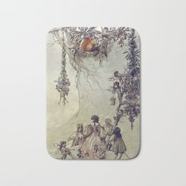 """The Fairies Ascent"" by A. Duncan Carse Bath Mat"