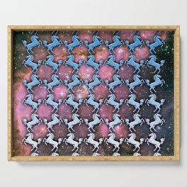 Cosmic Horse Pattern Serving Tray