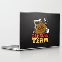 hockey Laptop & iPad Skins featuring HOCKEY by frail