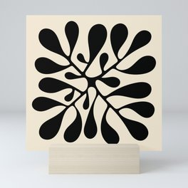 Matisse Inspired Abstract Cut Outs black Mini Art Print