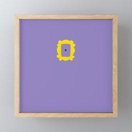 Friends Peephole Frame Framed Mini Art Print