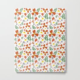 Fine Floral Foliage Metal Print
