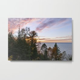 Superior Fall Colors at Sunset Metal Print