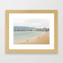 La Concha Beach, San Sebastian - Donostia-San, Spain Framed Art Print