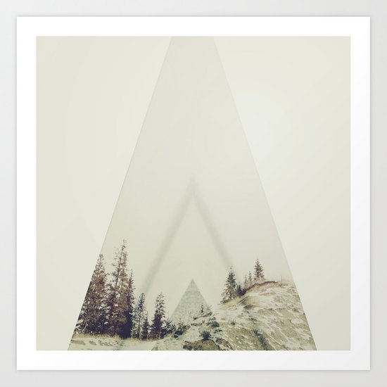 in A cabin in the woods Art Print