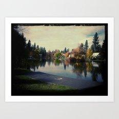 A quiet park Art Print