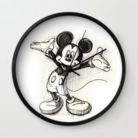 mickey Wall Clocks featuring Mickey Mouse by Herself