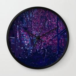 Late Winter Nights Wall Clock