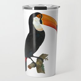 Toucan, Le Toco, Toco, Toco Bird, Giant Toucan, Antique Bird Print Jacques Barraband Francois LeVaillant, Sharp PNG Travel Mug