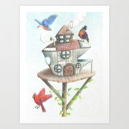 Steampunk Robin Art Print