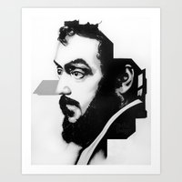 kubrick Art Prints featuring STANLEY KUBRICK by A. Dee