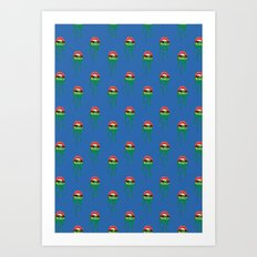 Princess-Frog pattern Art Print