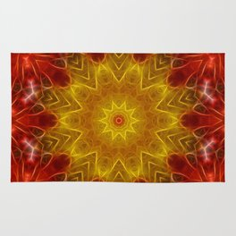 Autumn Leaves Kaleidoscope Rug