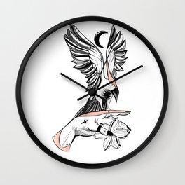 Heart under the Moon Wall Clock
