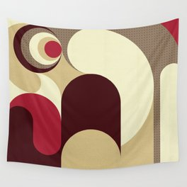 5 Colors Composition (#1) Wall Tapestry