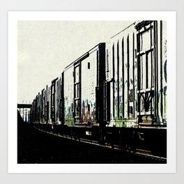 Long Train 1 Impressionist Art Print