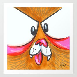 Mood Monster-grizzly Art Print