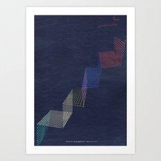 upstairs... Art Print