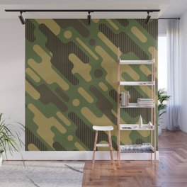 Retro Camouflage Pattern Wall Mural