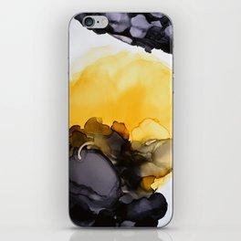 Black & Yellow Smoked iPhone Skin