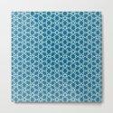 Geometric blue-white pattern by zeldashafferdesigns