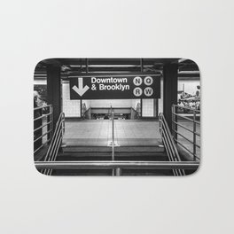 Downtown New York City Subway Bath Mat