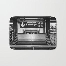 Downtown New York City Subway Bath Mat