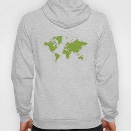 World with no Borders - kelly green Hoody