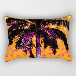 Palm Tree (Orange Pink) Rectangular Pillow