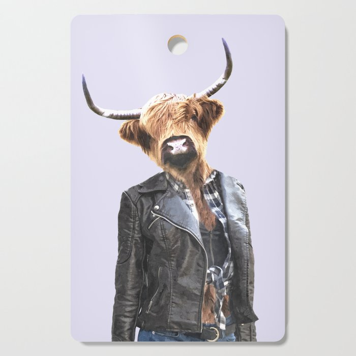 Cow Girl Cutting Board