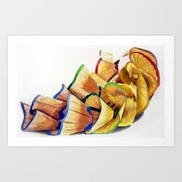 Pencil Shavings Art Print