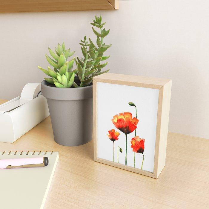 Poppy Love Framed Mini Art Print