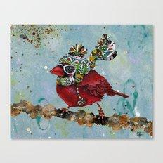 Cardinal Blaze Canvas Print