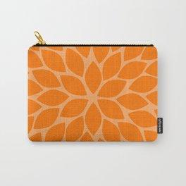 Orange Chrysanthemum Carry-All Pouch
